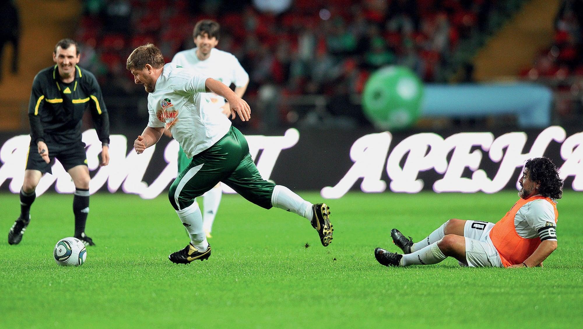 Image result for кадыров играет в футбол фото