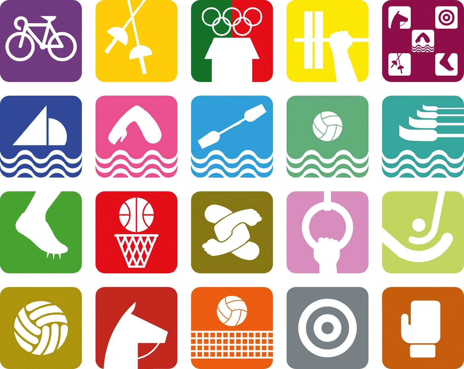 Спортивные символы видов спорта 30 годовщина октября