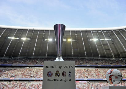 Half width audi cup 2015. opening ceremony allianz arena 1